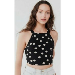 Urban Outfitters Polka Dot Crop Top